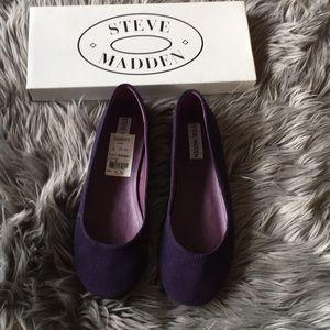 Steve Madden purple suede ballet flats 8.5 NWT
